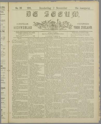 De Zeeuw. Christelijk-historisch nieuwsblad voor Zeeland 1911-11-02