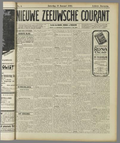 Nieuwe Zeeuwsche Courant 1912-01-13