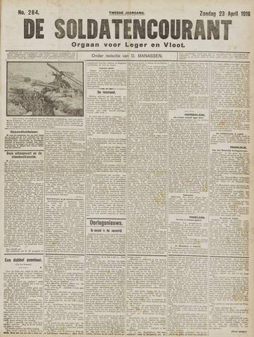 De Soldatencourant. Orgaan voor Leger en Vloot 1916-04-23