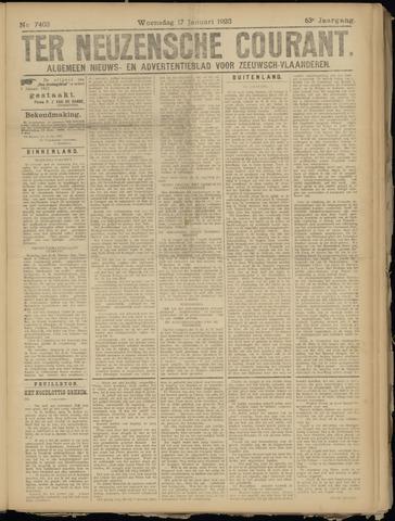 Ter Neuzensche Courant. Algemeen Nieuws- en Advertentieblad voor Zeeuwsch-Vlaanderen / Neuzensche Courant ... (idem) / (Algemeen) nieuws en advertentieblad voor Zeeuwsch-Vlaanderen 1923-01-17