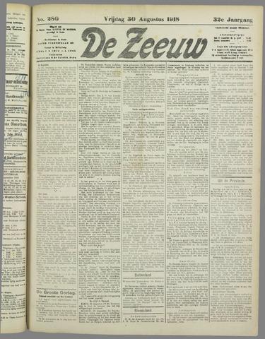 De Zeeuw. Christelijk-historisch nieuwsblad voor Zeeland 1918-08-30