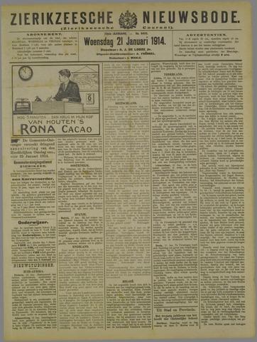 Zierikzeesche Nieuwsbode 1914-01-21