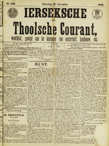 Ierseksche en Thoolsche Courant 1892-11-26