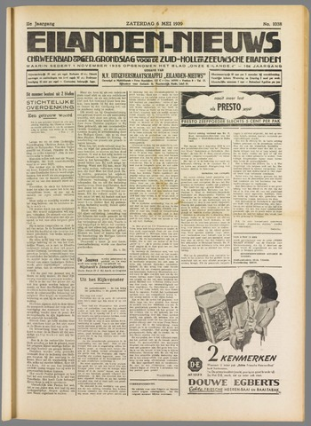 Eilanden-nieuws. Christelijk streekblad op gereformeerde grondslag 1939-05-06