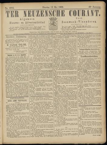 Ter Neuzensche Courant. Algemeen Nieuws- en Advertentieblad voor Zeeuwsch-Vlaanderen / Neuzensche Courant ... (idem) / (Algemeen) nieuws en advertentieblad voor Zeeuwsch-Vlaanderen 1902-05-13