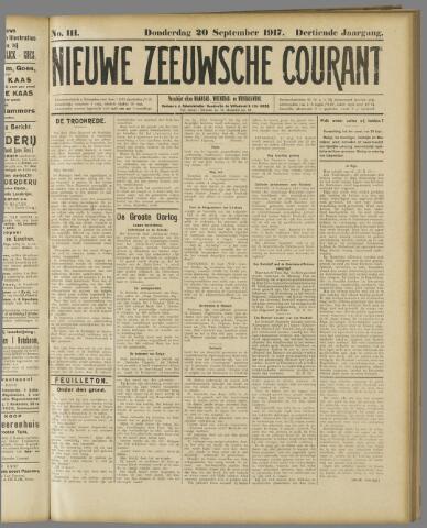 Nieuwe Zeeuwsche Courant 1917-09-20