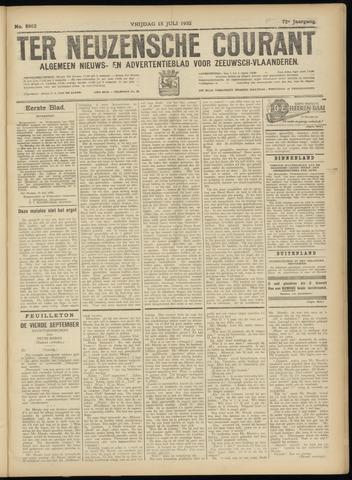 Ter Neuzensche Courant. Algemeen Nieuws- en Advertentieblad voor Zeeuwsch-Vlaanderen / Neuzensche Courant ... (idem) / (Algemeen) nieuws en advertentieblad voor Zeeuwsch-Vlaanderen 1932-07-15