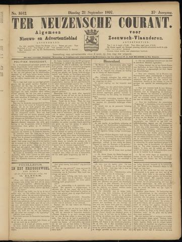 Ter Neuzensche Courant. Algemeen Nieuws- en Advertentieblad voor Zeeuwsch-Vlaanderen / Neuzensche Courant ... (idem) / (Algemeen) nieuws en advertentieblad voor Zeeuwsch-Vlaanderen 1897-09-21