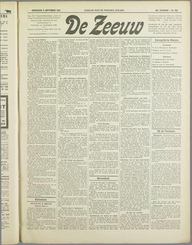De Zeeuw. Christelijk-historisch nieuwsblad voor Zeeland 1934-09-06