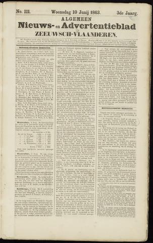 Ter Neuzensche Courant. Algemeen Nieuws- en Advertentieblad voor Zeeuwsch-Vlaanderen / Neuzensche Courant ... (idem) / (Algemeen) nieuws en advertentieblad voor Zeeuwsch-Vlaanderen 1863-06-10