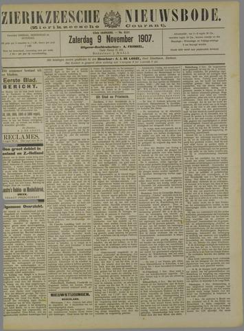 Zierikzeesche Nieuwsbode 1907-11-09