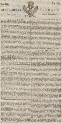 Middelburgsche Courant 1763-09-08