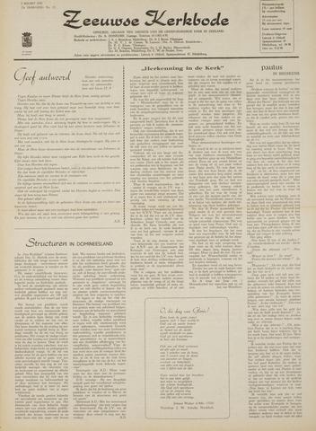 Zeeuwsche kerkbode, weekblad gewijd aan de belangen der gereformeerde kerken/ Zeeuwsch kerkblad 1970-03-05