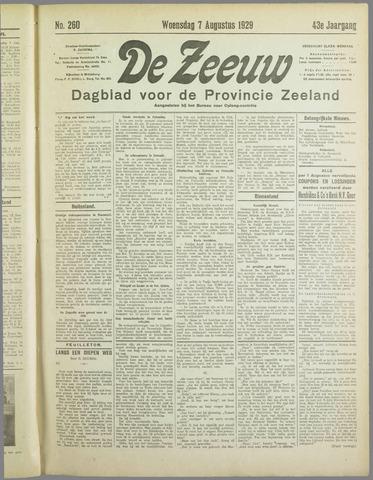 De Zeeuw. Christelijk-historisch nieuwsblad voor Zeeland 1929-08-07