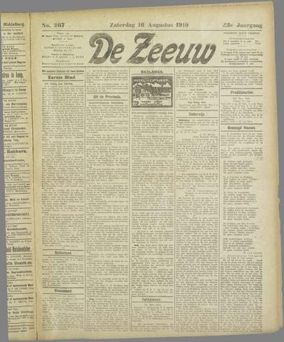 De Zeeuw. Christelijk-historisch nieuwsblad voor Zeeland 1919-08-16