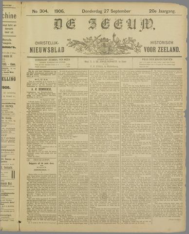 De Zeeuw. Christelijk-historisch nieuwsblad voor Zeeland 1906-09-27