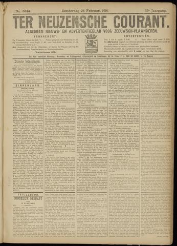 Ter Neuzensche Courant. Algemeen Nieuws- en Advertentieblad voor Zeeuwsch-Vlaanderen / Neuzensche Courant ... (idem) / (Algemeen) nieuws en advertentieblad voor Zeeuwsch-Vlaanderen 1916-02-24
