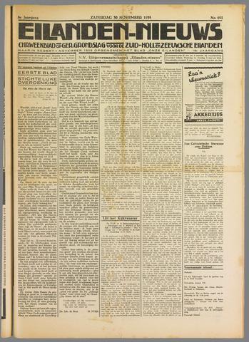 Eilanden-nieuws. Christelijk streekblad op gereformeerde grondslag 1935-11-30