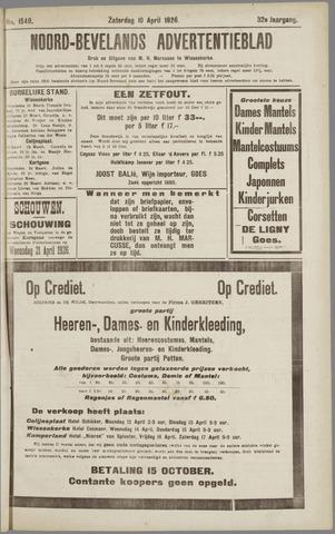 Noord-Bevelands Nieuws- en advertentieblad 1926-04-10