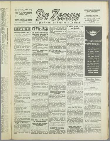 De Zeeuw. Christelijk-historisch nieuwsblad voor Zeeland 1937-10-04