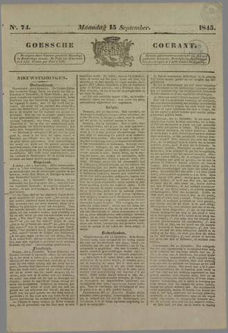Goessche Courant 1845-09-15