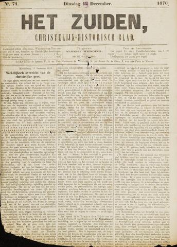 Het Zuiden, Christelijk-historisch blad 1876-12-12