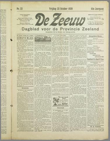 De Zeeuw. Christelijk-historisch nieuwsblad voor Zeeland 1929-10-25