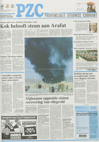 Provinciale Zeeuwse Courant 2001-10-17