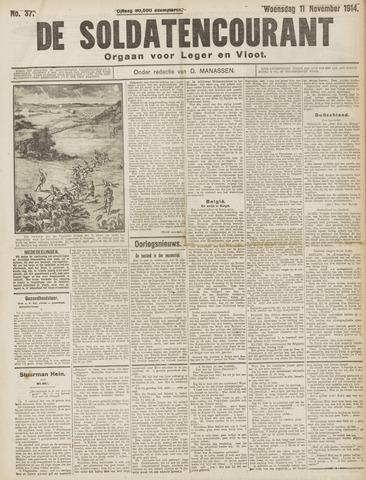 De Soldatencourant. Orgaan voor Leger en Vloot 1914-11-11