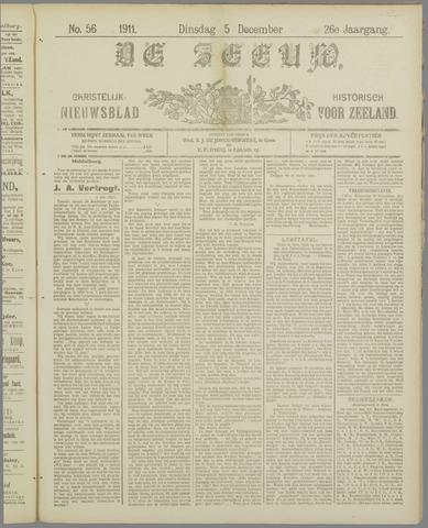 De Zeeuw. Christelijk-historisch nieuwsblad voor Zeeland 1911-12-05