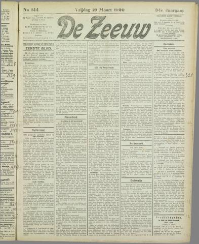 De Zeeuw. Christelijk-historisch nieuwsblad voor Zeeland 1920-03-19