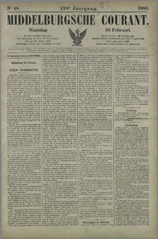 Middelburgsche Courant 1883-02-26