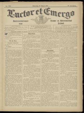 Luctor et Emergo. Antirevolutionair nieuws- en advertentieblad voor Zeeland / Zeeuwsch-Vlaanderen. Orgaan ter verspreiding van de christelijke beginselen in Zeeuwsch-Vlaanderen 1917-03-10