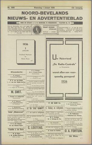 Noord-Bevelands Nieuws- en advertentieblad 1936
