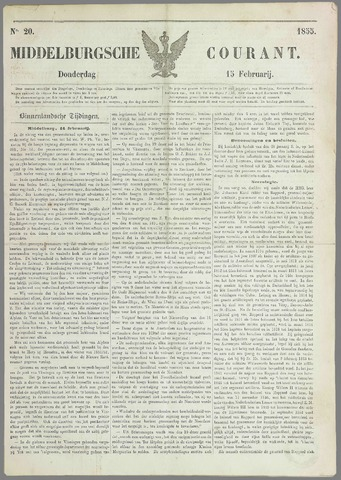 Middelburgsche Courant 1855-02-15