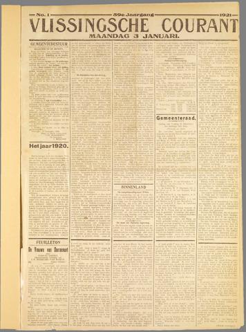 Vlissingse Courant 1921