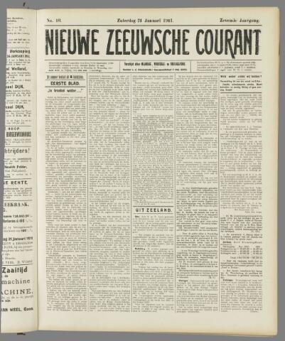 Nieuwe Zeeuwsche Courant 1911-01-21