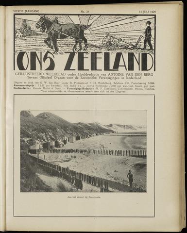Ons Zeeland / Zeeuwsche editie 1929-07-13