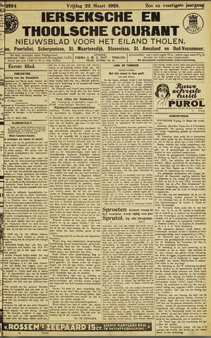 Ierseksche en Thoolsche Courant 1929-03-22