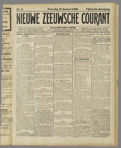 Nieuwe Zeeuwsche Courant 1919-01-11