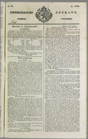 Zierikzeesche Courant 1844-09-03