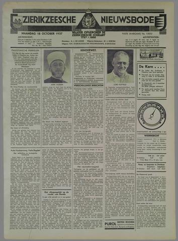 Zierikzeesche Nieuwsbode 1937-10-18
