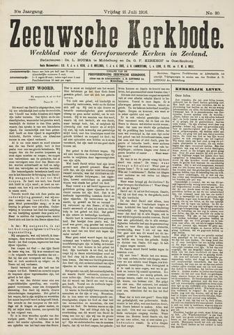 Zeeuwsche kerkbode, weekblad gewijd aan de belangen der gereformeerde kerken/ Zeeuwsch kerkblad 1916-07-21