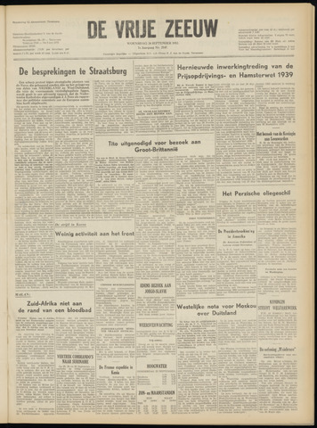 de Vrije Zeeuw 1952-09-24