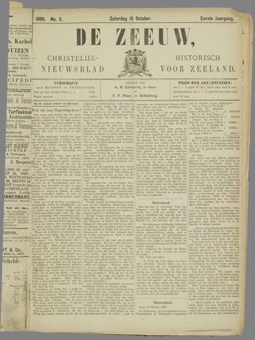 De Zeeuw. Christelijk-historisch nieuwsblad voor Zeeland 1886-10-16