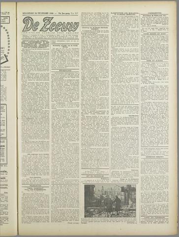 De Zeeuw. Christelijk-historisch nieuwsblad voor Zeeland 1944-02-28