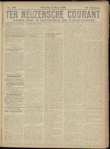 Ter Neuzensche Courant. Algemeen Nieuws- en Advertentieblad voor Zeeuwsch-Vlaanderen / Neuzensche Courant ... (idem) / (Algemeen) nieuws en advertentieblad voor Zeeuwsch-Vlaanderen 1924-03-31