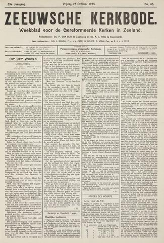 Zeeuwsche kerkbode, weekblad gewijd aan de belangen der gereformeerde kerken/ Zeeuwsch kerkblad 1925-10-23