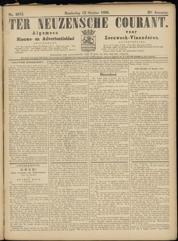 Ter Neuzensche Courant. Algemeen Nieuws- en Advertentieblad voor Zeeuwsch-Vlaanderen / Neuzensche Courant ... (idem) / (Algemeen) nieuws en advertentieblad voor Zeeuwsch-Vlaanderen 1898-10-13