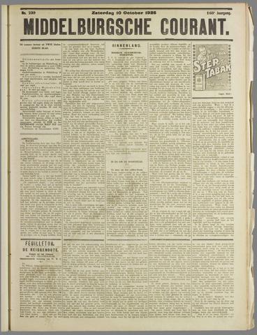 Middelburgsche Courant 1925-10-10